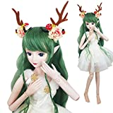 Green Deer 1/3 BJD Doll Spirit Demon Girl 24inch 60cm 19 Ball jointed dolls Baby Doll Toy Gift