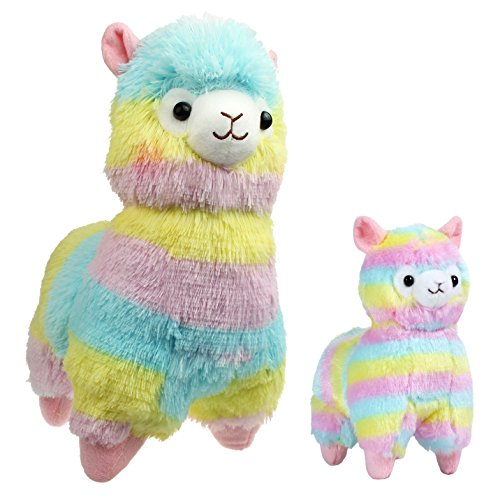 7' Plush Toy Stuffed (Alpacasso 14'' and 7'' Rainbow Alpaca, 100% Plush Stuffed Animals Toys. (M+S))