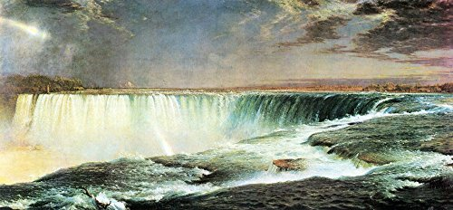 The Museum Outlet - Niagara Falls by Frederick Edwin Church - Poster Print Online Buy (24 X 32 - Near Falls Outlets Niagara