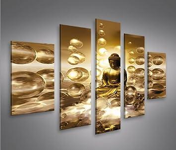 Buddha V2 MF 5 Quadri moderni su tela - pronti da appendere ...