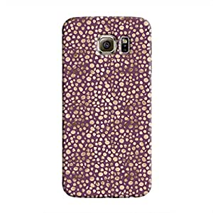 Cover It Up - Brown Purple Pebbles Mosaic Galaxy S6 Hard Case