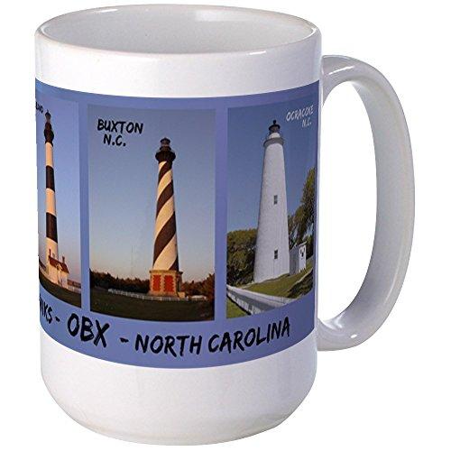 CafePress - Obx Lighthouses - Large Mug Mugs - Coffee Mug, Large 15 oz. White Coffee Cup
