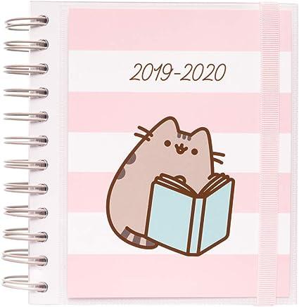 Agenda escolar 2019/2020 día página M Pusheen Gold: Amazon.es ...