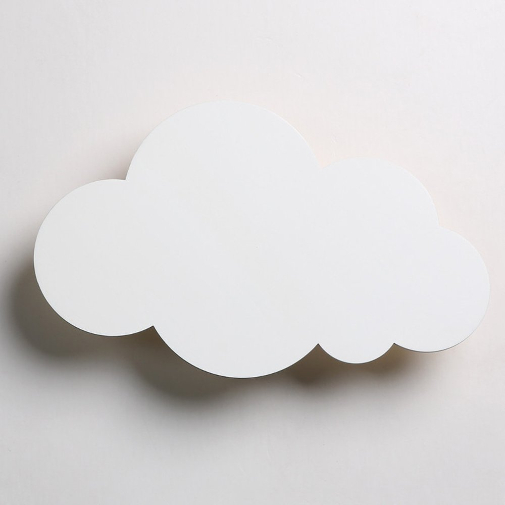 Neilyn Einfache moderne Cartoon kreative LED Wandleuchte Wandleuchte Schlafzimmer Nachttischlampe Mädchen Cute Cartoon Kinder Wandleuchte personalisierte Cloud Form Wandlaterne (Farbe   Weiß)
