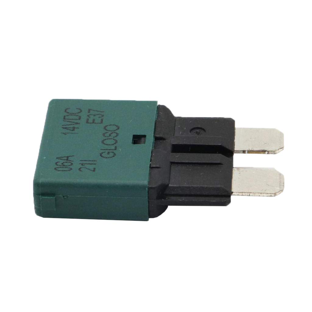 Blue 15A Baoblaze Fuse Circuit Breaker Automatic Reset Trip Function in Blade Fuse Housing