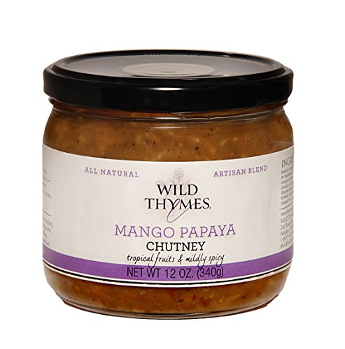 MANGO PAPAYA SWEET FRUIT CHUTNEY by Wild Thymes Farm (Nirav Mango Chutney)
