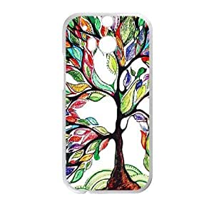 Canting_Good,colorful trees, Custom Case for HTC One M8 (Laser Technology) by ruishername