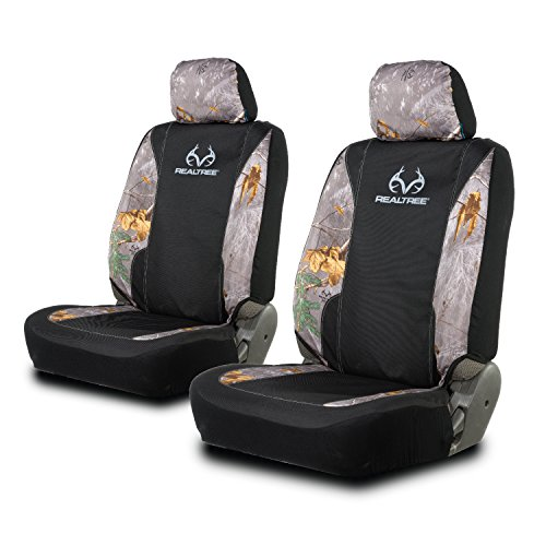 Realtree Camo Low Back Seat Covers | Xtra Granite | 2 Pack