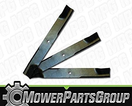 "3 Blades fit  Excel//Hustler # 784256  44/"" Cut Mower Blades"