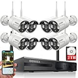 【2019 Update】 OOSSXX 8-Channel HD 1080P Wireless Security Camera System,8Pcs 960P 1.3 Megapixel Wireless Indoor/Outdoor IR Bullet IP Cameras,P2P,App, HDMI Cord & 2TB HDD Pre-Install
