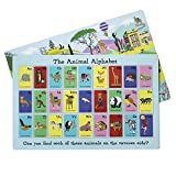 Children's Animal Alphabet Placemat for Children, Reversible, Alphabet Learning, Search and find Game