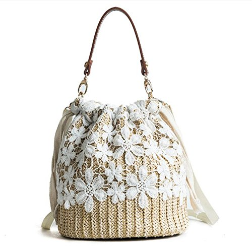 Meaeo Summer Straw Bags Mujeres Beach Crossbody Buckets Vintage   Embroidery Small Shoulder Bags Party Bolsos