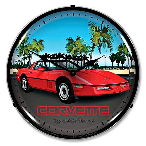 - Corvette C4 Red Vette Wall Clock 14
