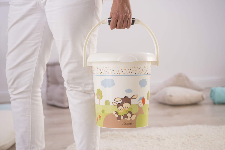 Haltering f/ür Hygienebeutel StyLe! 202150195BS Windeleimer Sterntaler Design 11l Wei/ß Ab 0 Monate Rotho Babydesign Emmi StyLe