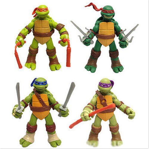 Mutant Ninja Turtles Action Figures TMNT Model Kids Toys (Blue Ninja Turtle Name)
