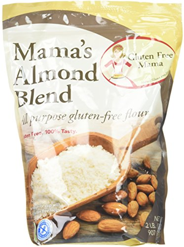 Gluten Free Mama, Mamas All Purpose Almond Blend Flour 2lbs (2 Pack)- Cup to Cup Replacement Gluten Free Flour for Gluten Free Recipes