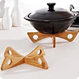 wintefei Detachable Wooden Heat Insulation Rack Mat Pot Holder for Kitchen Tableware