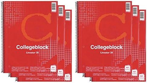 Collegeblock - 6 Cuadernos escolares tamaño A4 cuadriculados (Pack ...