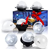 Image of Unique Ice Ball Maker Sphere Mold - 4 Pack - Round Ice Cube Molds - Make Large 2.5-inch Ice Cube Balls - Lightweight, Flexible & Durable Spherical Silicone Ice Tray