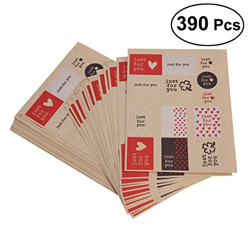 LUOEM Self Adhesive Gift Tags Valentine's Day Tag Stickers Presents Gift Labels Decals for Holiday(390pcs in 13 Assorted Designs)