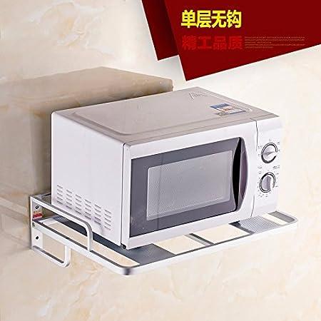 lzzfw Aluminio Espacio Estante microondas Cocina empotrada ...