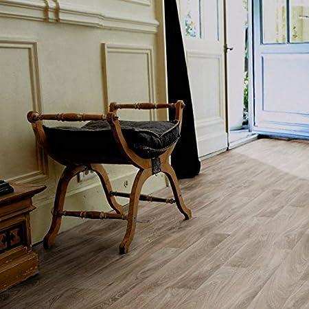 Meterware PVC Bodenbelag Holzoptik Gr/ö/ße: 1 Muster Dielenoptik Eiche grau 200 verschiedene Gr/ö/ßen 300 und 400 cm Breite