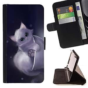 BullDog Case - FOR/HTC Desire 820 / - / cute drawing kitten pet sweet furry /- Monedero de cuero de la PU Llevar cubierta de la caja con el ID Credit Card Slots Flip funda de cuer