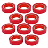PVC Cable Wire Electrical Insulation Tape Band 0.18mm x 18mm 10Pcs Red