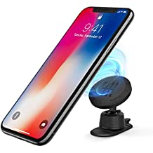Ringke Magnetic Gear Car Mount Holder [Black] with Universal Safe Powerful Neodymium Magnet 360° Rotation Grip Smartphone Dashboard Technology Stand for iPhone, Android, Galaxy, LG, or GPS Tablet