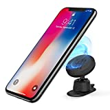 Ringke Magnetic Gear Phone Car Holder with Carbon Fiber Pattern Swivel Lock Universal Powerful Neodymium Magnet 360° Rotation Premium Space Saving Dashboard Stand for iPhone, Android, Galaxy, LG, GPS