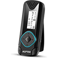 AGPTEK Clip MP3 Player 8GB Mini Digital Music Player for Jogging Running Gym, Supports up to 128GB, Black(R3)