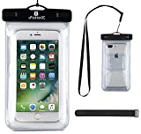uFashion3C [Home Button Compatible] Universal Waterproof Case Bag Pouch [With Armband, Lanyard] for iPhone 7 7 Plus [IPX8 Certified to 100 Feet] (i7-Clear)