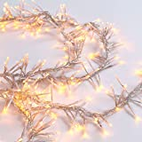 LampLust Cluster Garland String Light - 440 Warm White LEDs, 11 Foot Clear