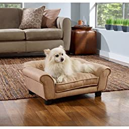 Enchanted Home Pet Sydney Linen Tufted Pet Sofa
