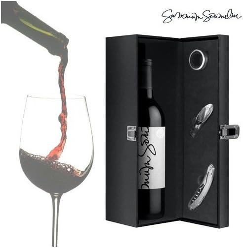 Compra Summum Sommelier Estuche de Vino con Accesorios, Polipiel y Terciopelo, Negro, 13.5x38.5x14.5 cm, 4 Unidades en Amazon.es