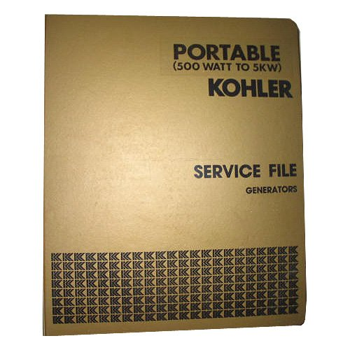 Kohler Master Service File Generators Portable 500 Watt To 5KW Binder 1, Circ.