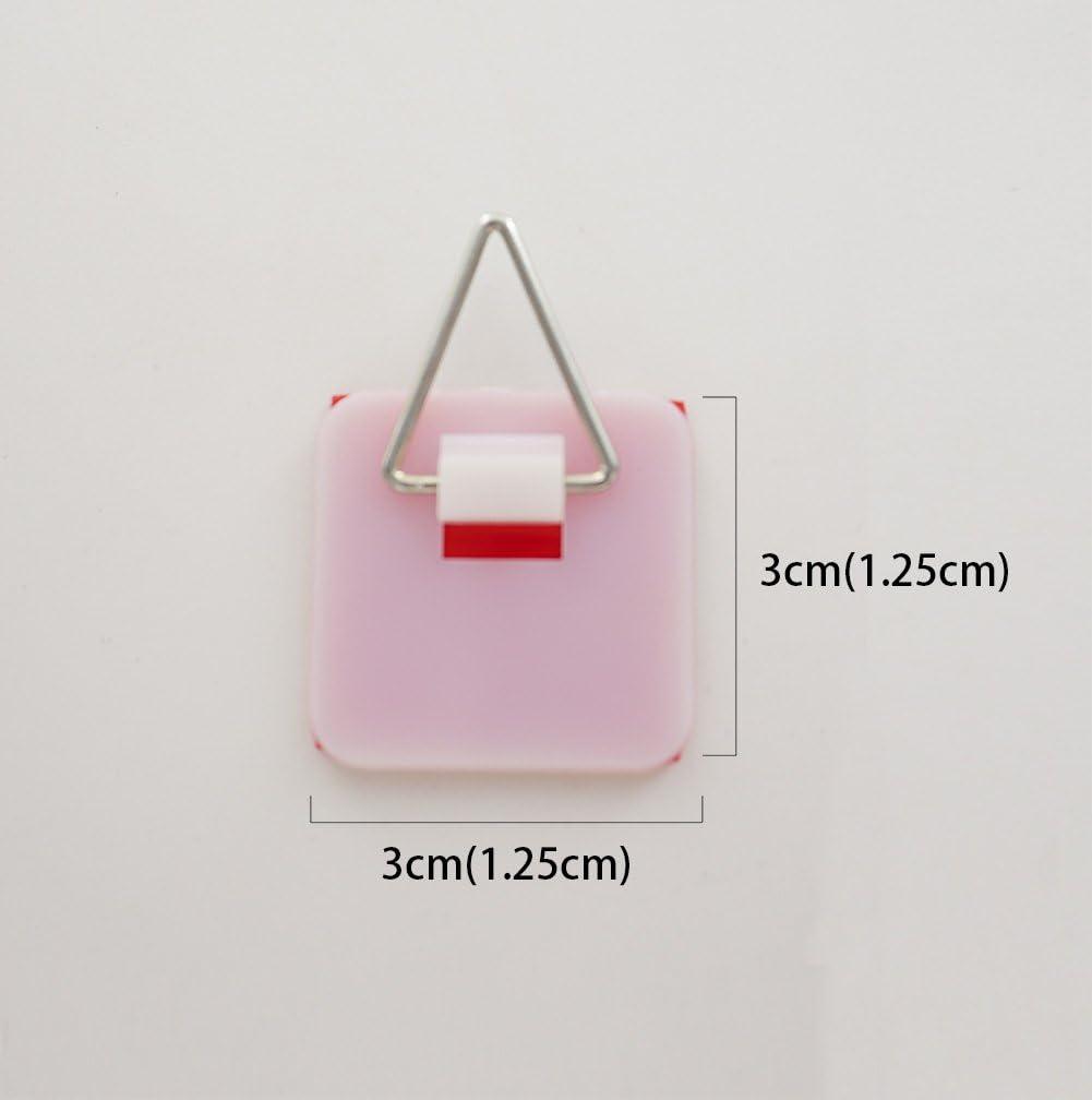 Tincogo Lot de 10 Supports de Plaque adh/ésives Invisibles pour Mur 1,25 cm