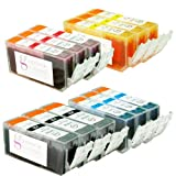Sophia Global Compatible Ink Cartridge Replacement for Canon PGI-225 CLI-226 (3 Large Black, 3 Cyan, 3 Magenta, 3 Yellow), Office Central
