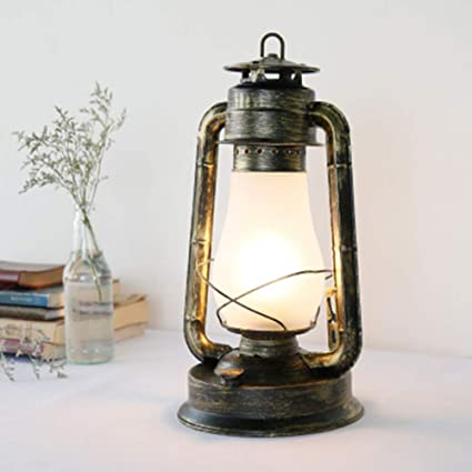 JYL Lámpara de Aceite Antigua Linterna eléctrica Antigua Acento ...