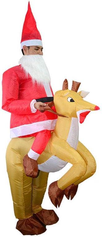 Vxhohdoxs - Disfraz de Papá Noel inflable para adultos para jugar ...