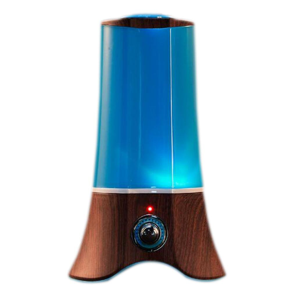 Essential Oil Diffuser BS-139 Ultrasonic Mute Humidifier Room Aromatherapy Indoor Air Purification LED Color Night Light Anhydrous Shutdown Large Capacity 2L , Deep wood grain