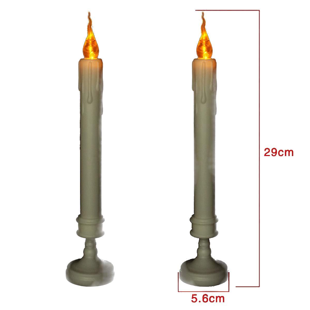 Gudelaa 1 paio di LED simulazione lacrimazione candele Halloween decorazioni natalizie lunghe candele 20cm