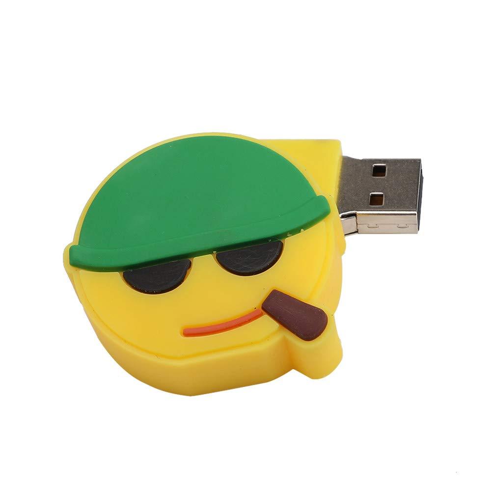 WaiiMak Emoji USB 128M-128G, 2.0 Flash Drives Memory Stick Storage Digital U Disk (B)