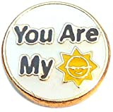 You Are My Sunshine Floating Locket Charm