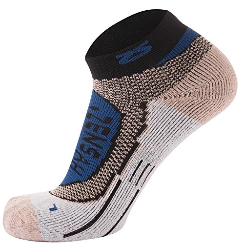 Zensah Copper Socks - Best Copper Running Sport Sock - Cushioned, Comfortable Fit - Great for Sports, Tennis, Golf, Basketball, Runners, Walking