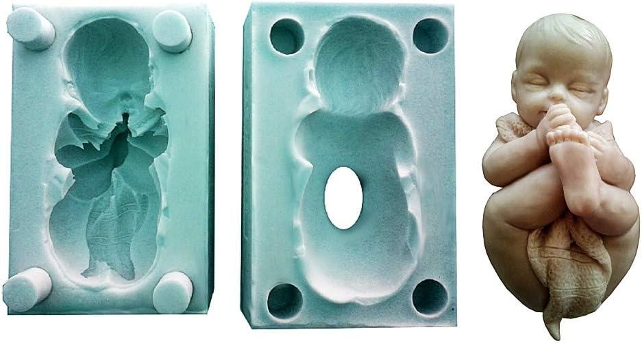 Lovelegis Molde de Silicona para bebé recién Nacido - Manta - jabón - Resina - Yeso - Idea cumpleaños - moldes de Silicona - Molde Artesanal