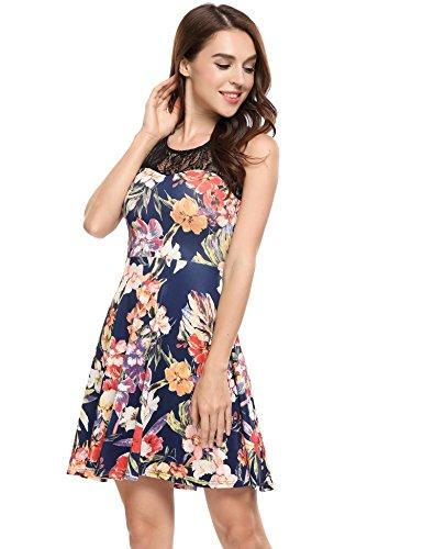 ANGVNS Womens Sleeveless Pleated Summer