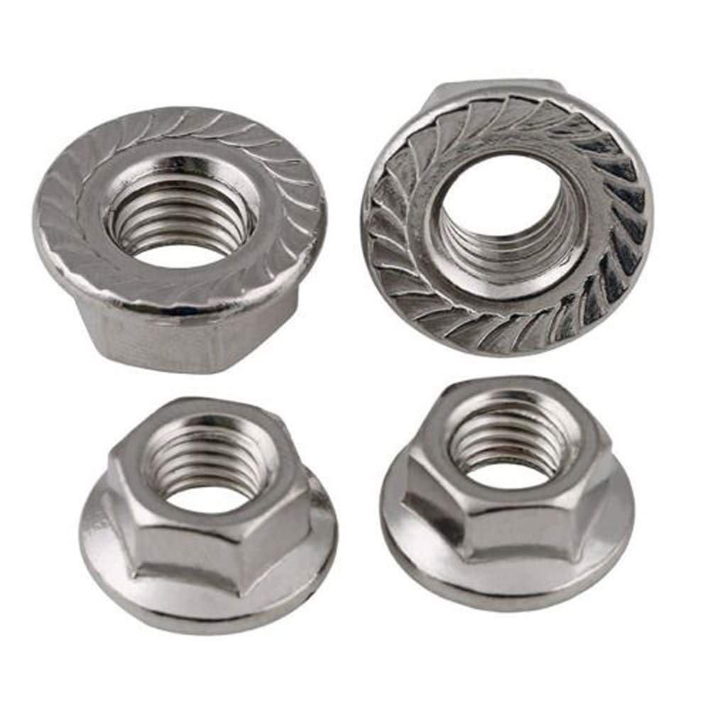 20Pcs, M3 x 0.5mm Pitch 316-Steel M3 M4 M5 M6 M8 M10 M12 M16 Serrated Flange Nuts 201//304//316 Stainless Steel Hex Lock Nuts