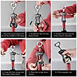 Ipow Red Wine Beer Bottle Opener with Stopper