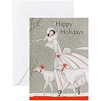 Amazon Com Cafepress Art Deco Christmas Cards 20pk Greeting